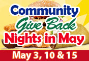 Community Give Back Nights in May